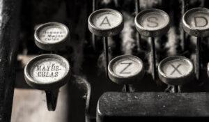tasti macchina da scrivere
