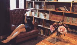 donna e libreria